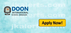doon international school Srinagar Recruitment