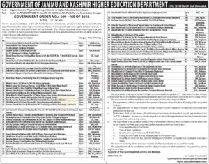 higher education selection list