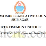 J&K Legislative Council Secretariat Recruitment 28 post