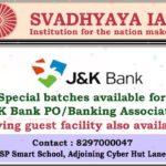 SVADHYAYA IAS J&K, IAS coaching in J&K,IAS, KAS, JKSSB, NDA, CDS, UPSC AC, JK bank Coaching, JKbank Jobs, J&K Bank PO,Bank Associates