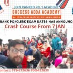 Success Adda Academy, Crash Course, JKBANK, J&K Bank, JK bank Jobs, J&K Bank Recruitment