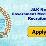 New Government Medical College GMC Doda Jobs Recruitment 2020.J&K New Government Medical College