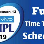 IPL Schedule 2019 Season-12 Full Fixtures, Date, Time, Venue, Teams,Date Sheet, Matches, Results