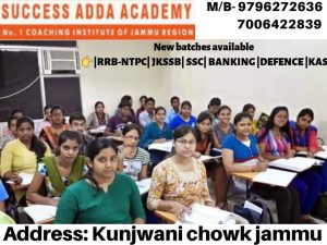 Success Adda Academy Jammu.