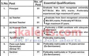 Tiger Army Pre Primary School Recruitment