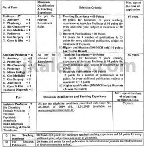 Govt Medical College GMC Rajouri Jobs Recruitment.