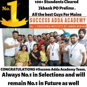 Success Adda Academy, Success Adda Jammu, Success Adda new batches