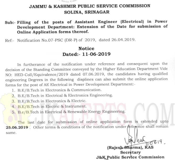 jkpsc AE Extension notification