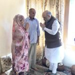 Home Minister Amit Shah Visited the home of inspector Arshad Khan,