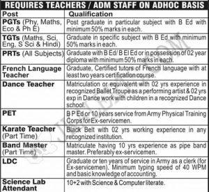 Army Public School BD Bari Jobs Recruitment 2019