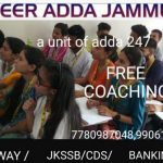 Career Adda Jammu, Free Coaching Jammu, Free Coaching Competitive Exams, , Free Coaching Competitive Exams In Jammu, Free coaching for BANKING,Free coaching for SSC,Free coaching for JKSSB,Free coaching for CDS,Free coaching for RAILWAY .