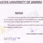 Cluster University of Jammu Class work