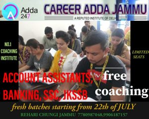 Career Adda Jammu, Free Coaching for all Competitive exams,