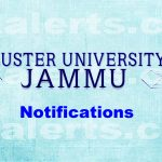 Cluster University of Jammu, Interview ,Assistant Professors. Cluster University Notification Cluster university Interview Schedule