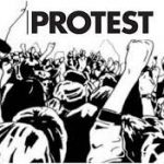 Arts students stagged protest, Account Assistant, Panchayat, 2000 posts.