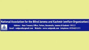 National Association for The Blind J&K, NAB J&K Jobs, NAB J&K Recruitment 2019.