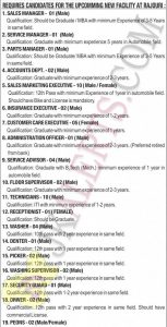 AM Hyundai Jobs Recruitment 2019 Various posts.