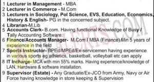 Dogra Degree College Teaching Non-Teaching Jobs Recruitment 2019.