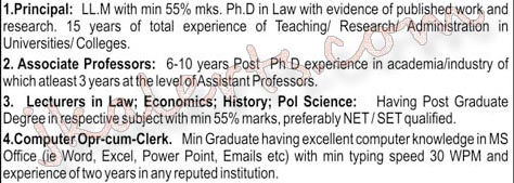 Dogra Law College Jobs recruitment 2019 various Teaching Non Teaching positions.