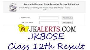 JKBOSE CLASS 12th Result