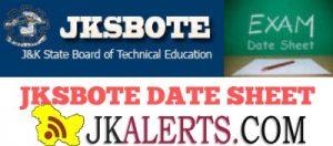 JKSBOTE Date Sheet and Center Notice for Leh Kargil Polytechnics.