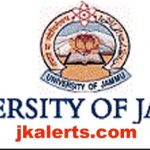 Jammu University Jobs Recruitment 2021