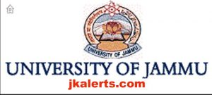 Jammu University, Jammu University Jobs, Jammu University Recruitment 2019, Jammu University various posts, Jammu Jobs, Jobs in Jammu Jammu university Recruitment 2019,