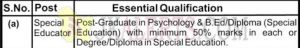 Chenab Army Pre Primary School CAPPS No 4 Rakhmuthi Jobs Recruitment 2019.