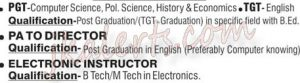 PGT,TGT, PA TO DIRECTOR,ELECTRONIC INSTRUCTOR JObs