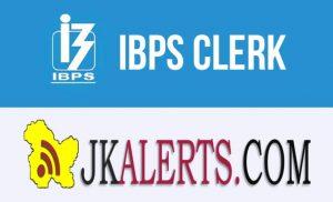 IBPS Clerk Recruitment 2019, Bank Jobs J&K