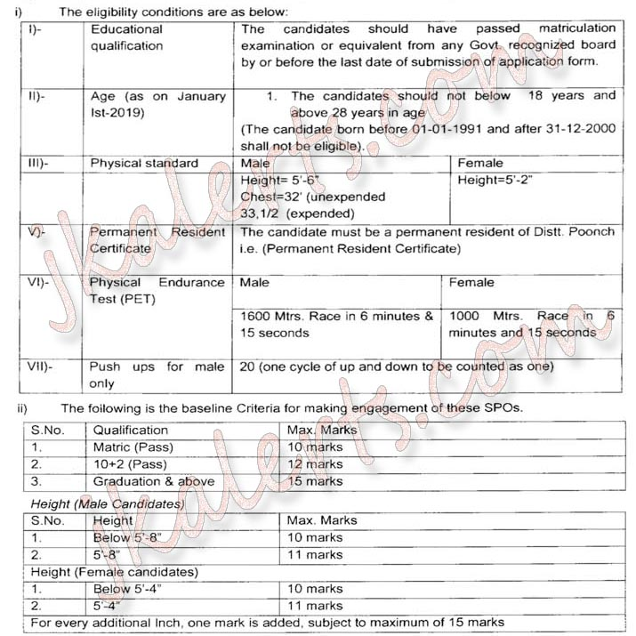 J&K Police Special Police Officers (SPOs) Job Recruitment complete details.