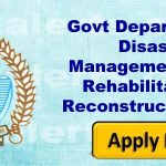J&K Govt Department of Disaster Management Relief Rehabilitation & Reconstruction Jobs.