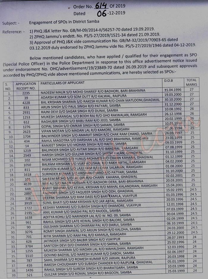 SPO Selection list Samba