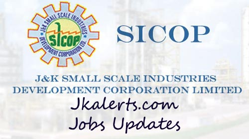J&K SICOP Jobs Recruitment 2020