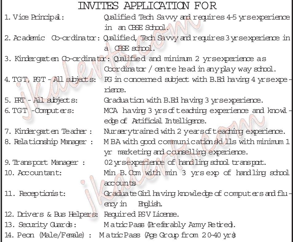 Mount Litera Zee School MLZS Jammu Teaching, Non-Teaching Jobs Recruitment 2020.