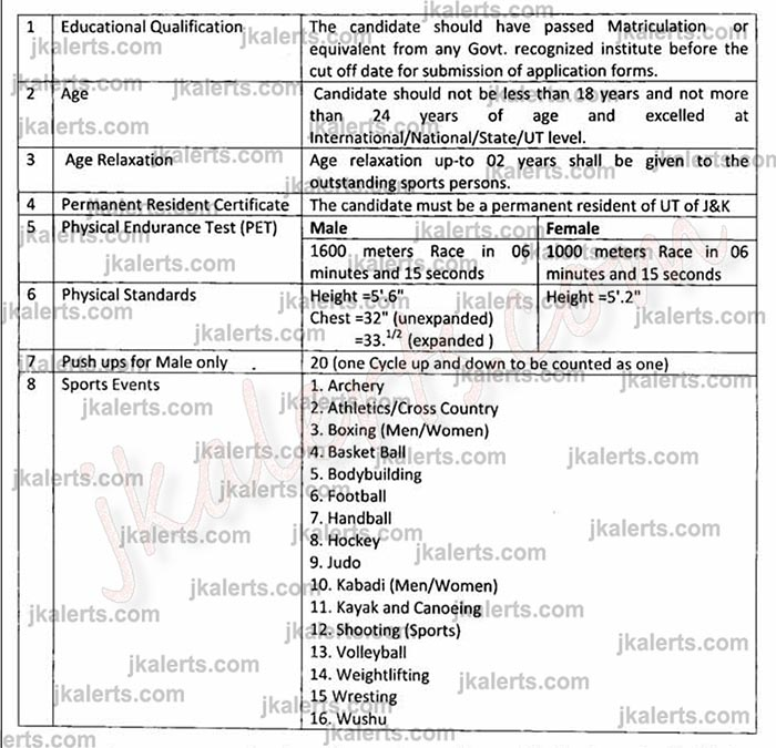 JK Police Special Police officers (SPO's) Jobs Recruitment 2020.