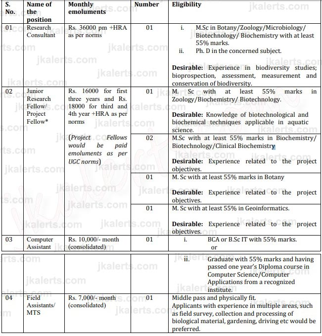 Kashmir University Jobs Recruitment