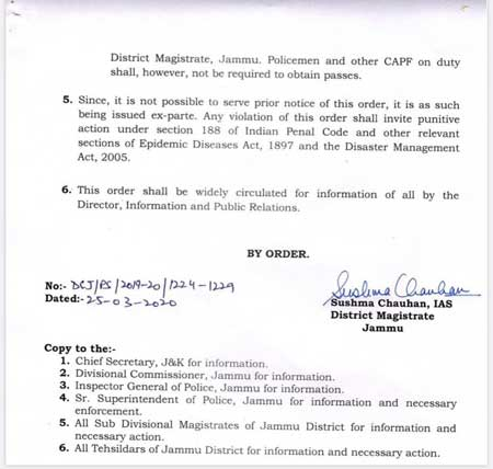 Important announcement from DM Jammu: More stringent restrictions in Jammu.