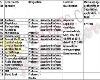 GMC Anantnag Jobs 2020