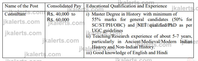 Indira Gandhi National Open University (IGNOU) Consultants Jobs.
