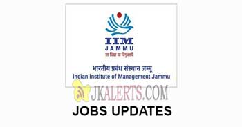 IIM Jammu Non-Faculty Jobs Recruitment 2020.
