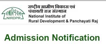 NIRDPR invites application for Rural Development Management Programme.