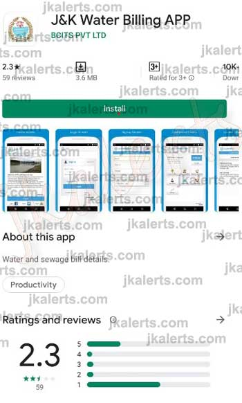J&K PHE online water bill payment methods, steps.