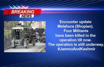 Two more militants, killed, neutralised, Operation ,Melahura, Shopian.