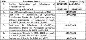 NCERT, Common Entrance Examination, NCERT CEE 2020,various Teacher Education programmes, B.Sc.B.Ed., B.A.B.Ed.,M.Sc.Ed., B.Ed. ,M.Ed. ,Regional Institutes of Education.