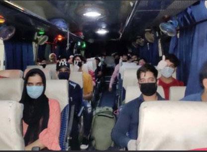 37, stranded persons, left ,Agra ,J&K, students