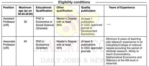 Centre for Development Studies CDS Jobs Recruitment 2020.