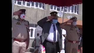 LG ,J&K, inspects guard ,honour ,Civil Secretariat ,that ,reopened ,Srinagar.