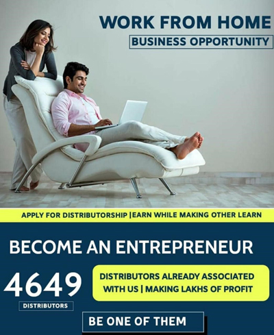 Work from Home, Business Opportunity ,Distributor.