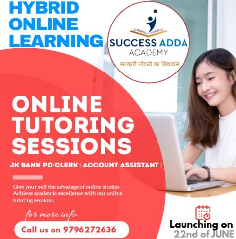 First Time in J&K, Success Adda Academy, Launch Live ,Online Hybrid Course.